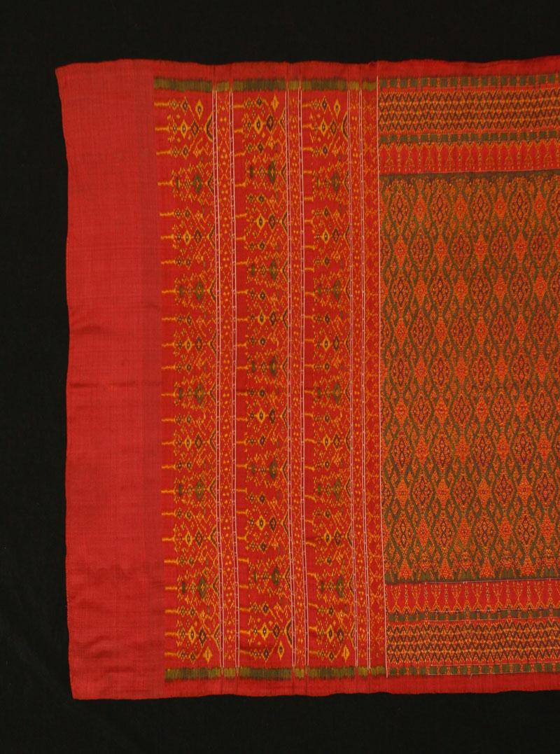 Silk ikat hipwrapper, Cambodia, late 19th century.