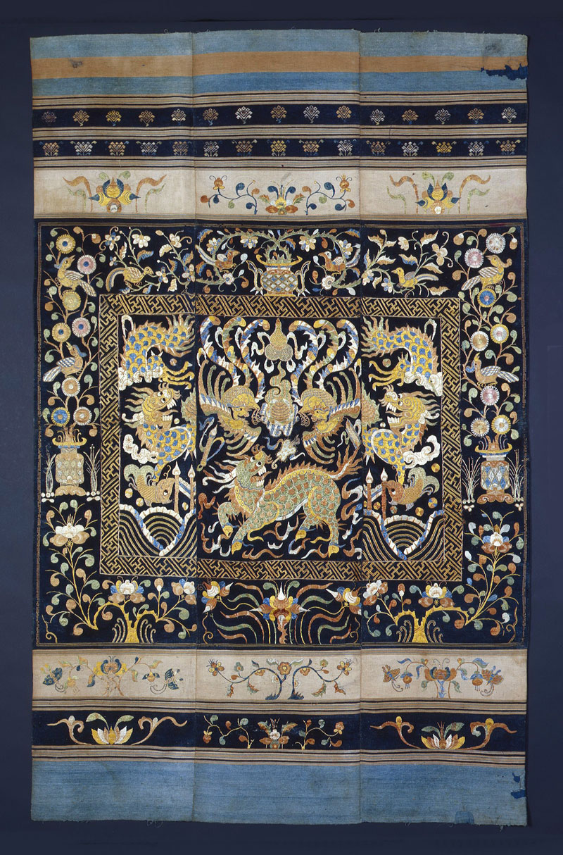 Li silk and cotton tapestry, Hainan, China, early Qing period, 18th-19th century.