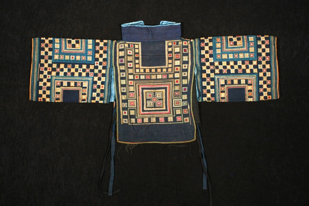 Miao woman's silk and cotton top, Guangxi, China, early 20th century.