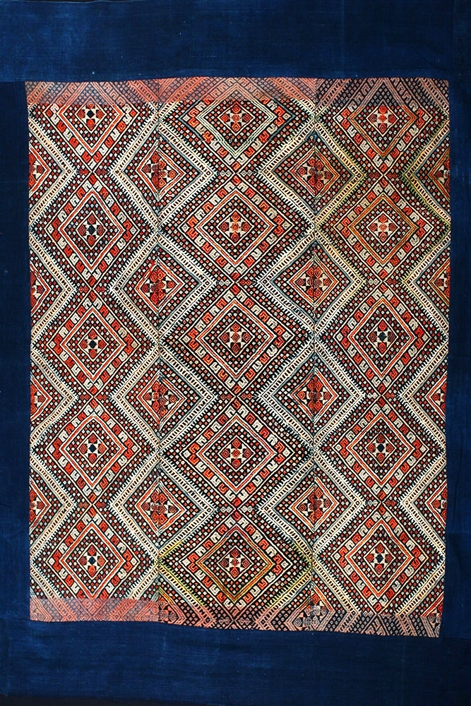 Buyi silk and cotton blanket, Guizhou, China, late 19th century.