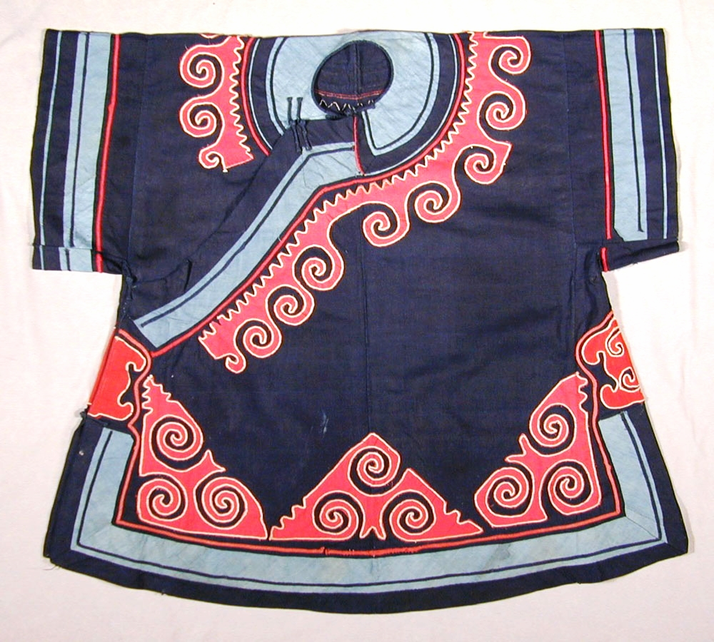 Yi cotton tunic, Sichuan, China, early to mid 20th century.