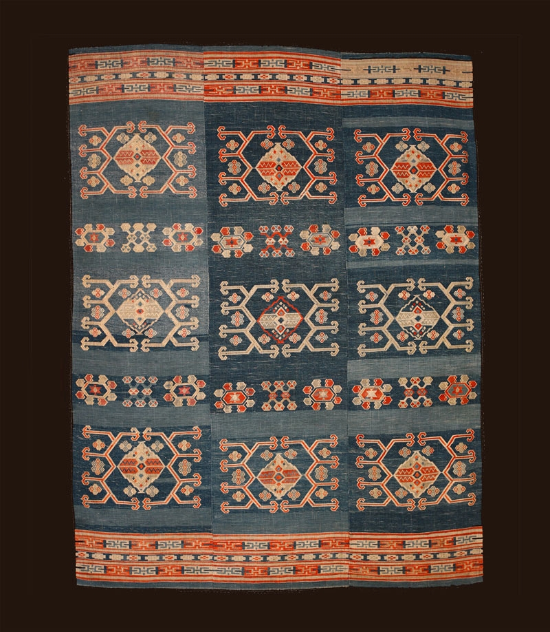 Tujia silk and cotton blanket, South China, 19th century.
