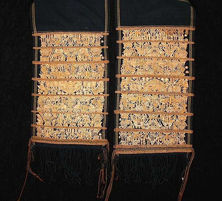 Meifu Li woman's silk and cotton head cloth, Hainan, China, turn-of-the-century.
