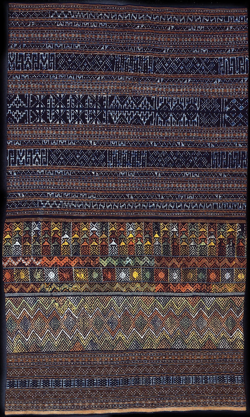 Meifu Li silk and cotton skirt, Hainan, China, turn-of-the-century.