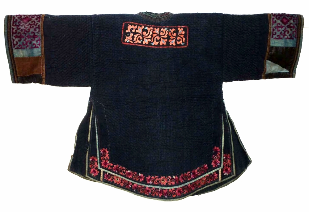 Miao silk and cotton jacket, Guizhou, China, early 20th century.