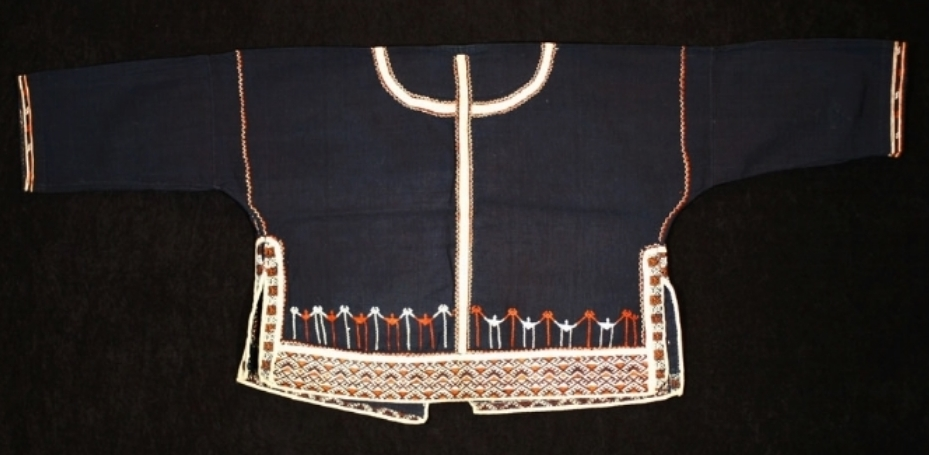 Ha Li woman's silk and cotton jacket, Hainan, China, early 20th century.