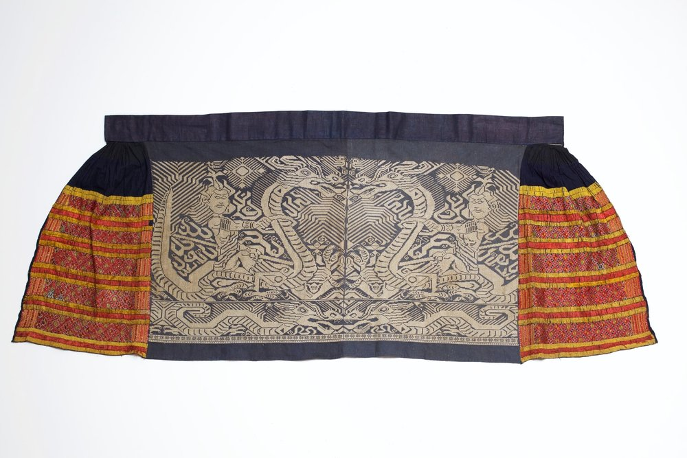 Hua Yao embroidered skirt, Hunan, China, early 20th century.