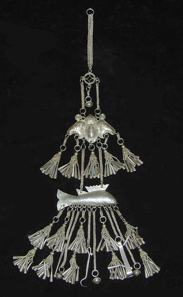 Hill Tribe silver pendant, Golden Triangle, 19th century.