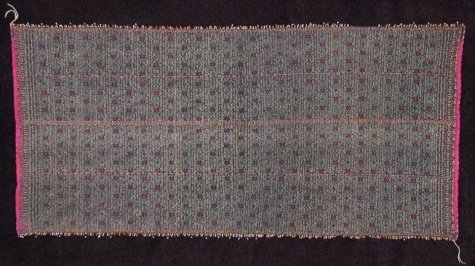 Chin cotton and silk breast cloth, circa 1900.