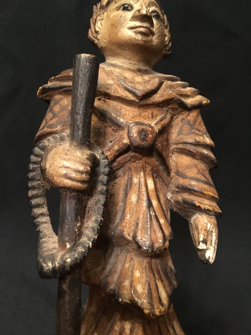 Polychrome wood monk, Burma, 19th century.