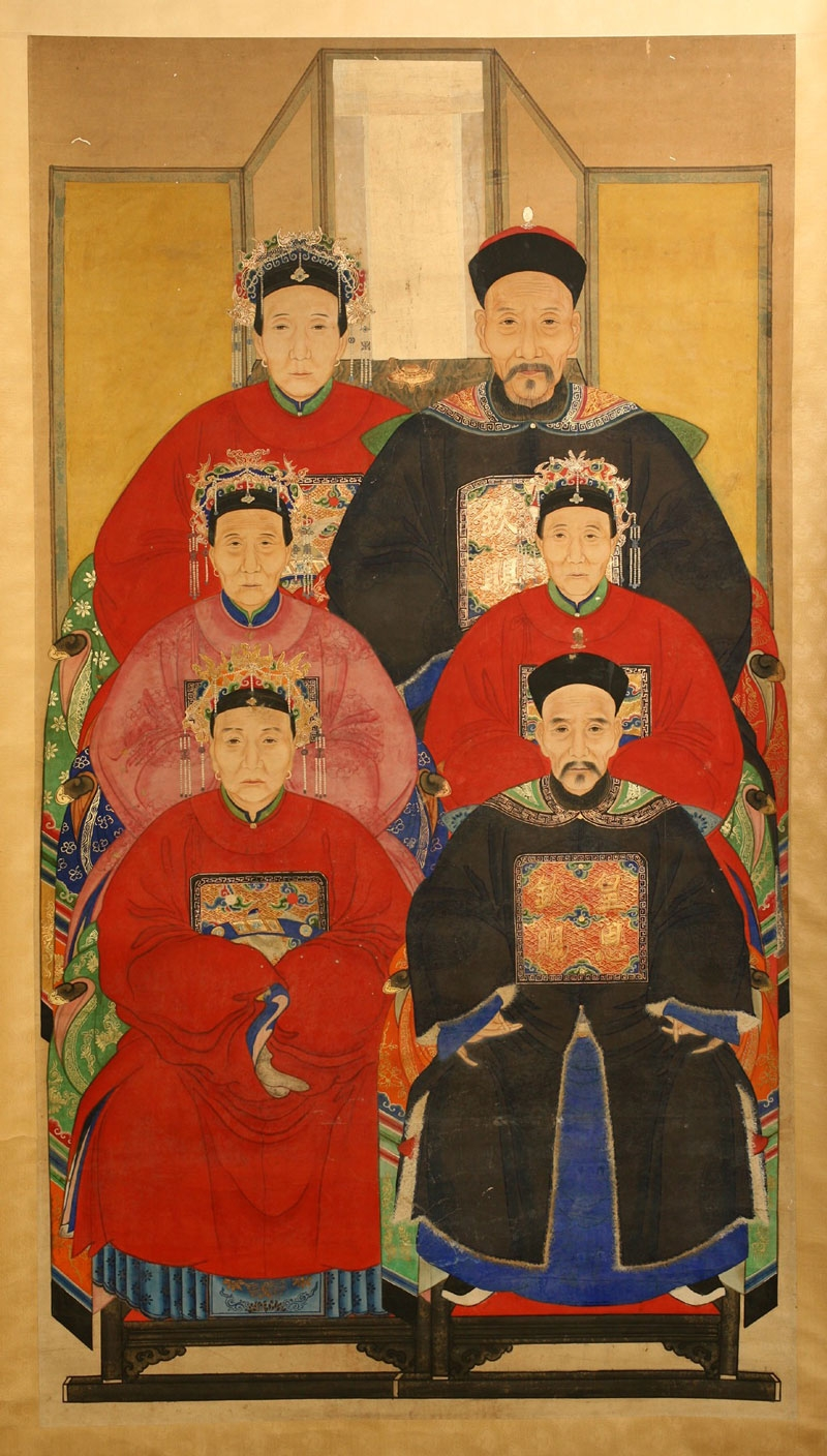 Ancestor painting, China, Qing period.