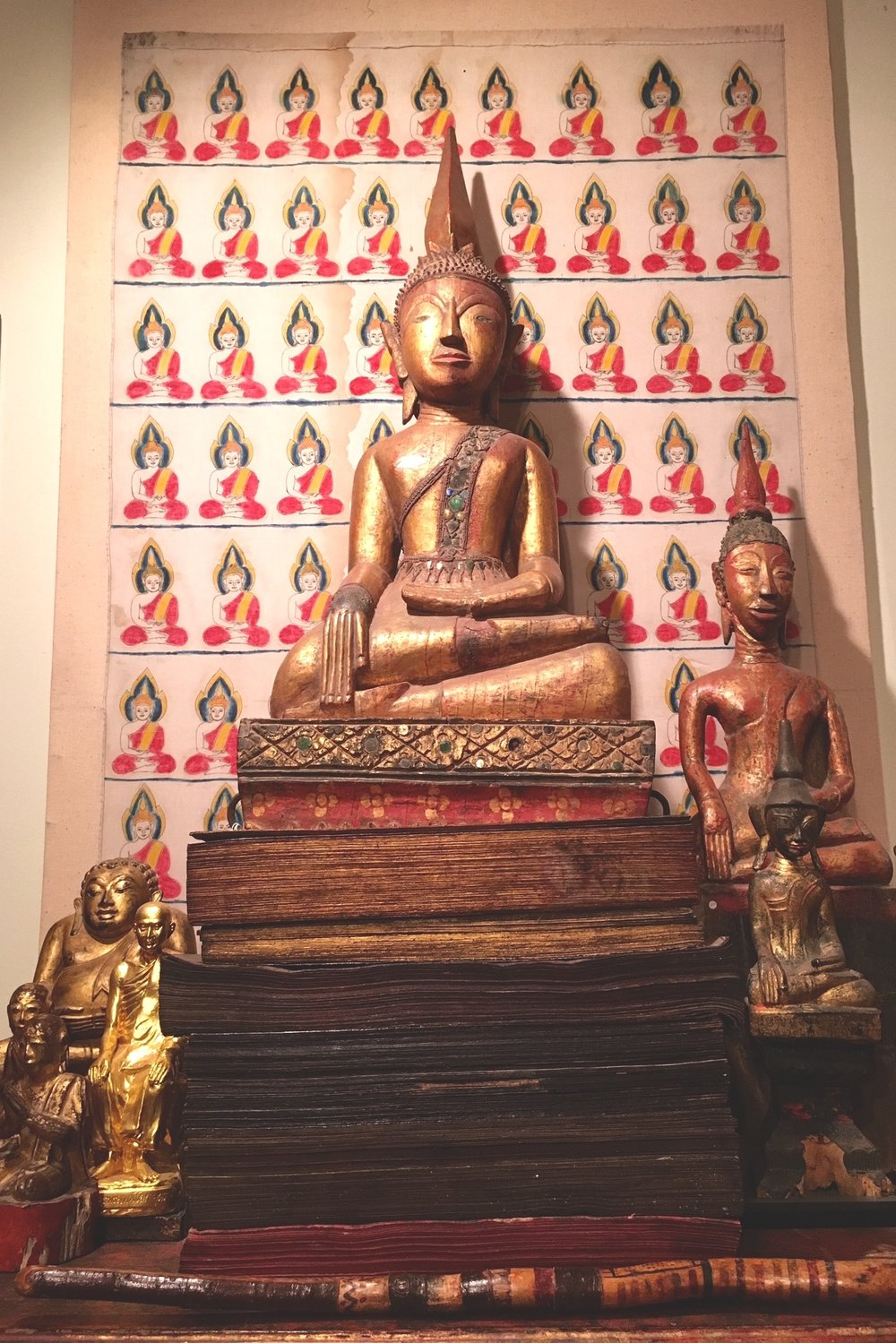 Buddhas, Buddhist manuscripts and painting of Buddhas, Siam, Burma, Laos, circa 1900 to early 20th century.