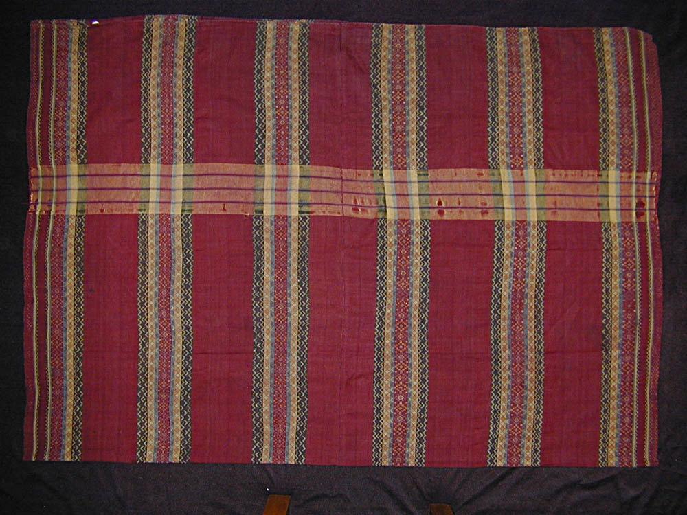 Hakachin man's silk wrap, Burma, circa 1900.