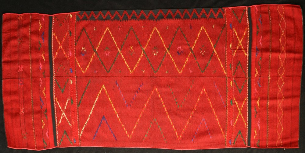 Chin cotton and wool skirt, Burma, early 20th century.