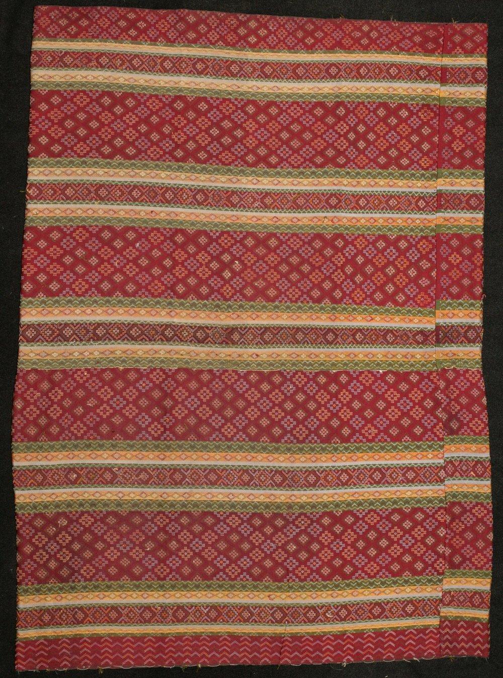 Hakachin woman's silk skirt, Burma, circa 1900.