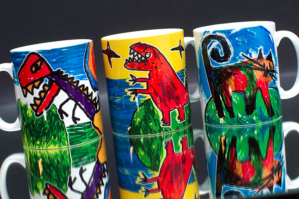 Kid's Drawings on Personalised Mugs