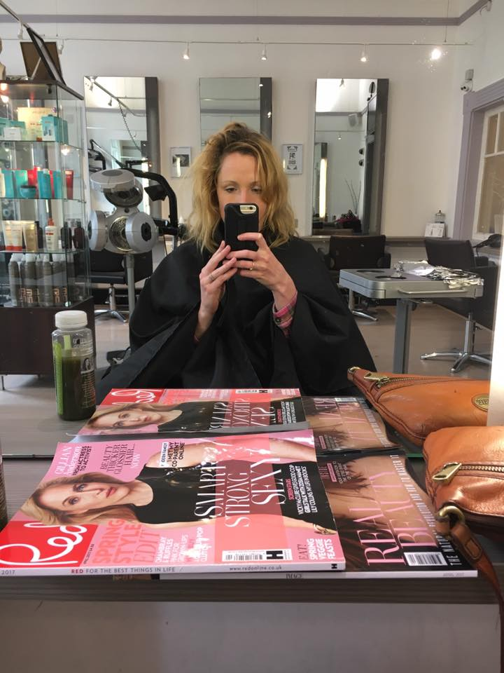 Before getting my hair coloured by Natulique my roots had really grown out