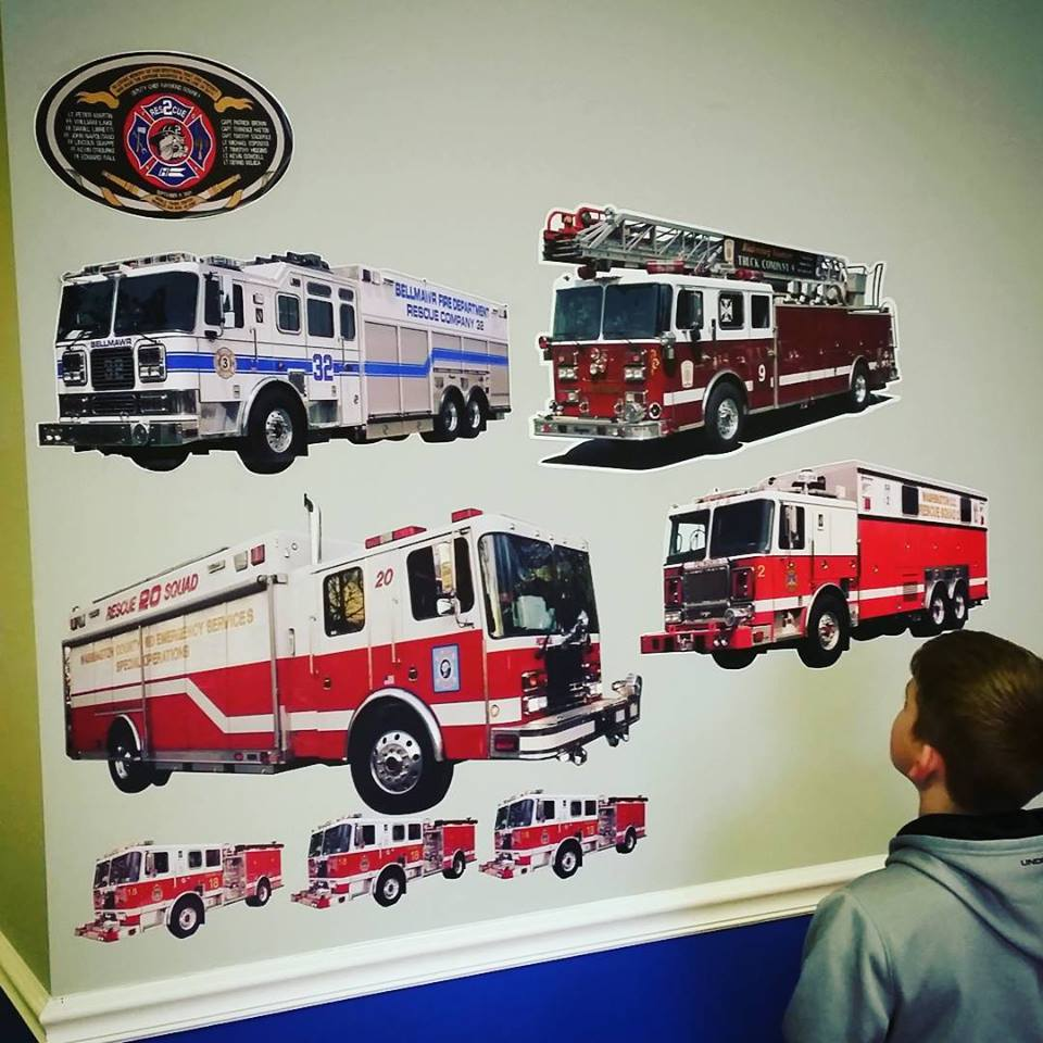 Custom Fire Engine Wall Graphics