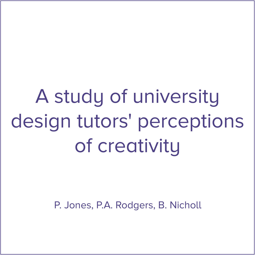 Link: Perceptions of Creativity