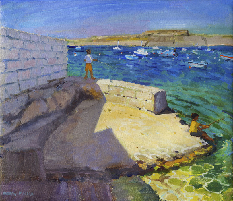 Boys Fishing, Gozo