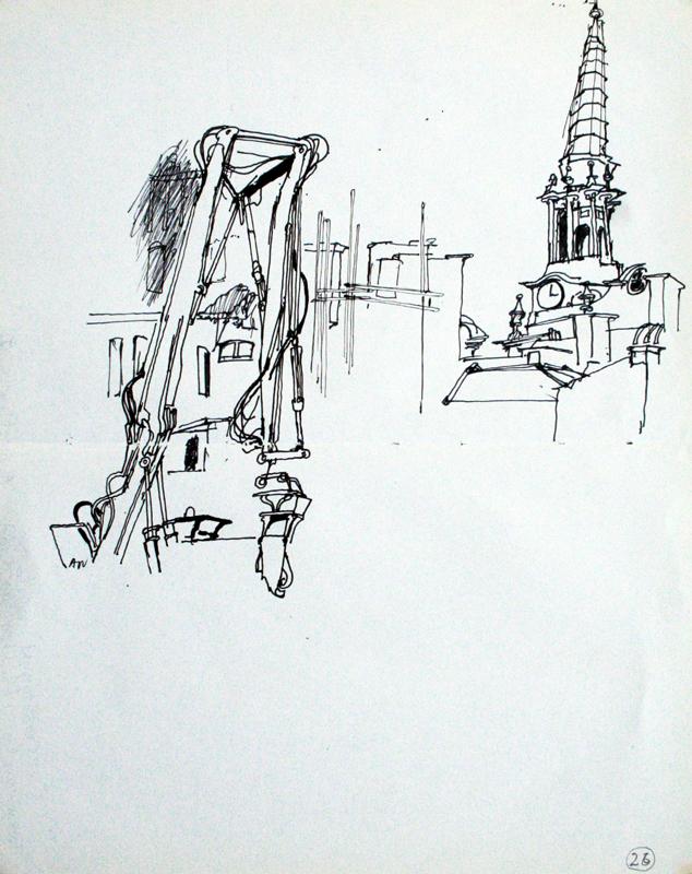 Crossrail works, St Giles