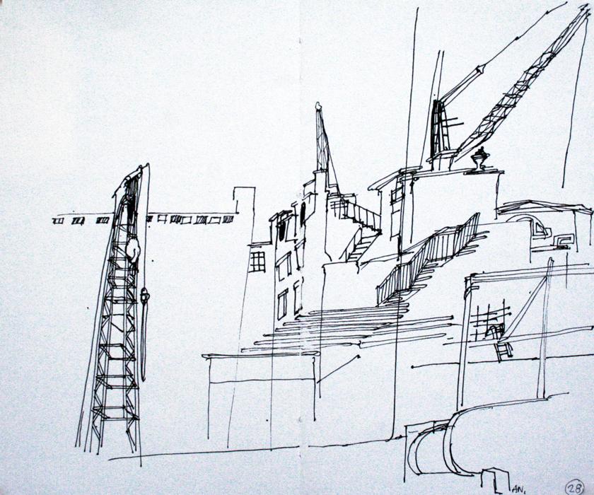 Crossrail Works, Tottenham Court Road