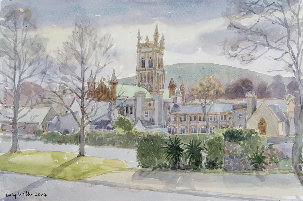 Buckfast Abbey, Winter Sun