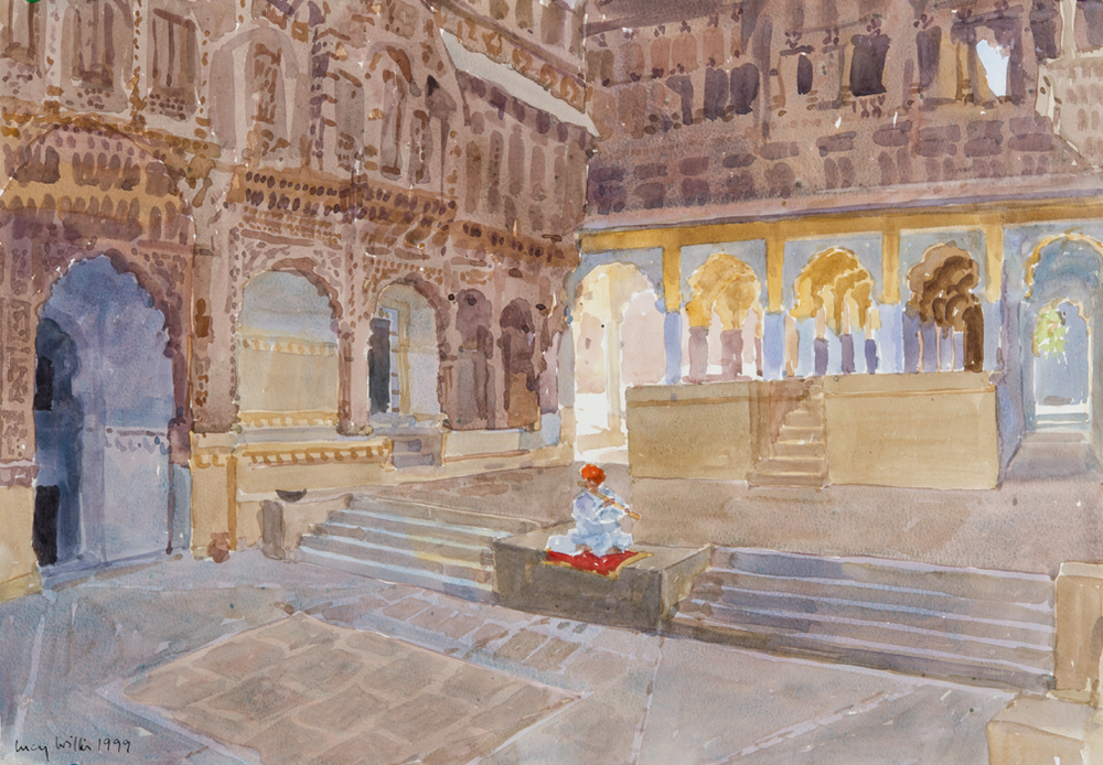 The Lonely Flautist, Jodhpur, India