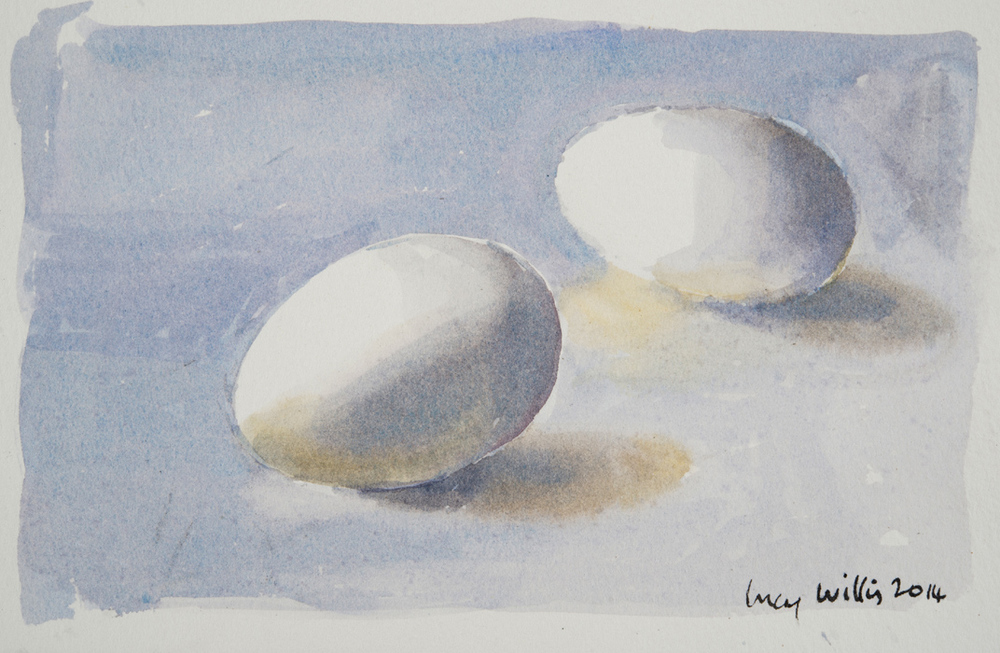 Goose Eggs by a Window