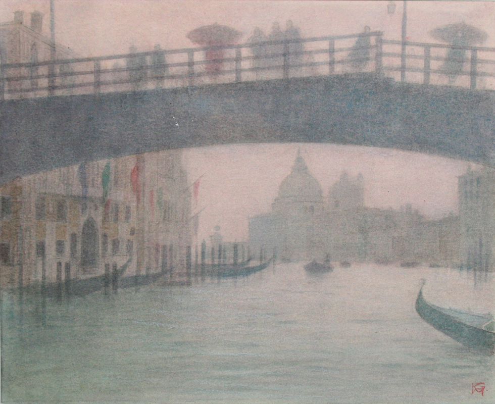 The Academia Bridge, Grand Canal, Venice - October