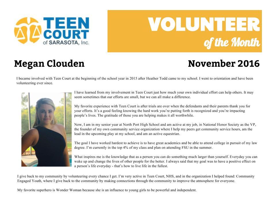 Board teen court volunteers you