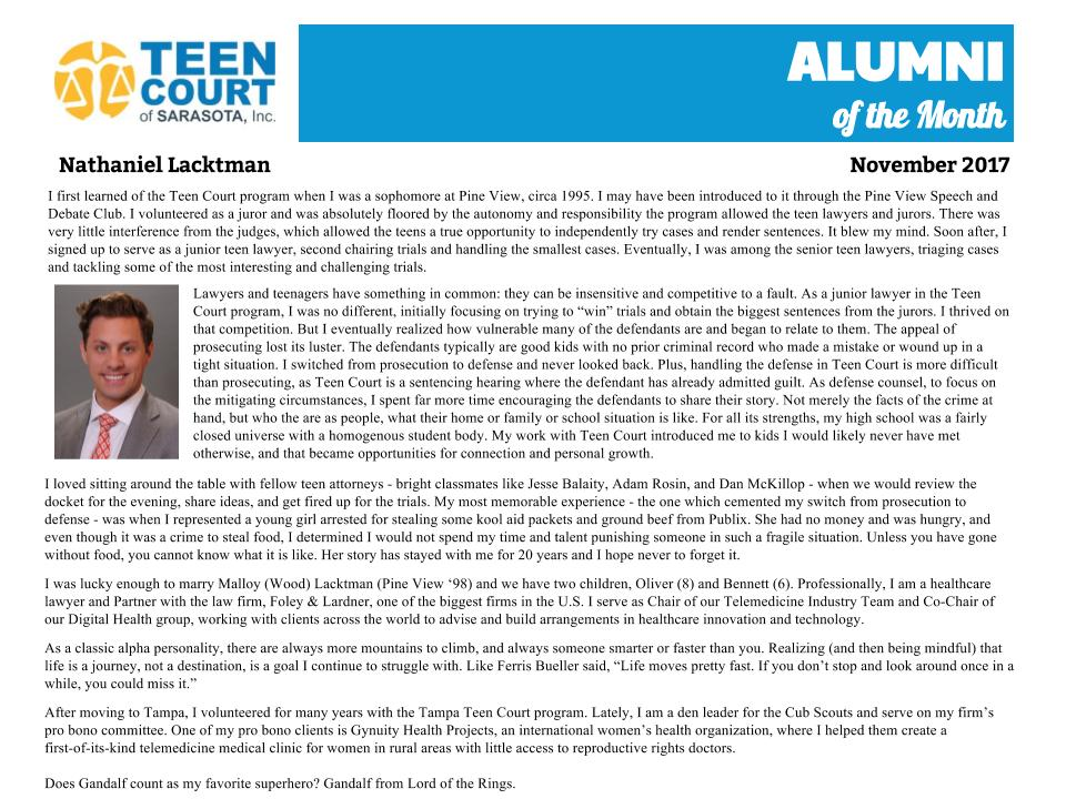 Alumni of the Month - Nathaniel Lacktman.jpg