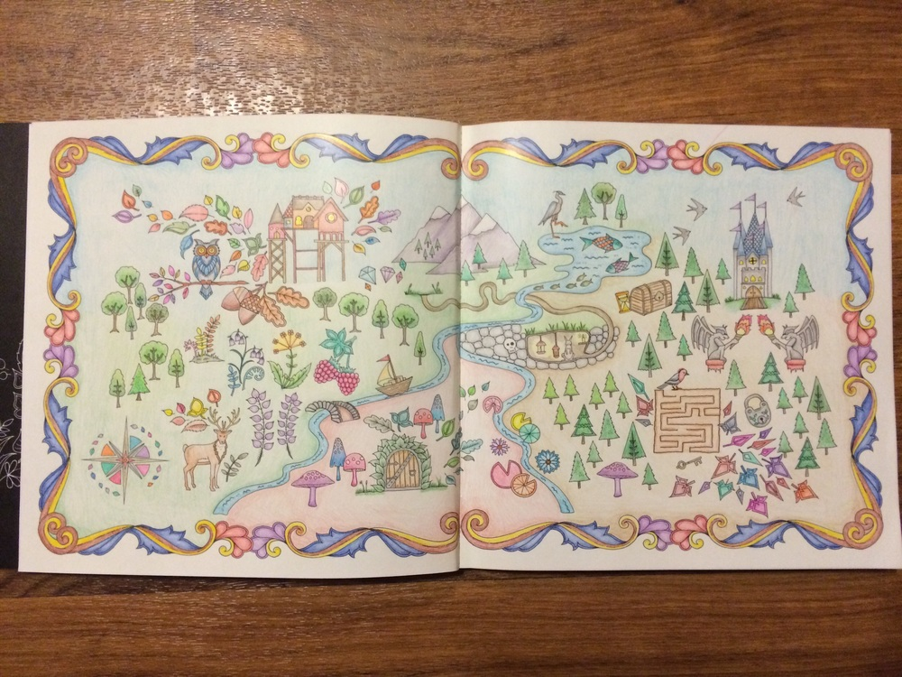 34 Enchanted Forest Coloring Book Compass