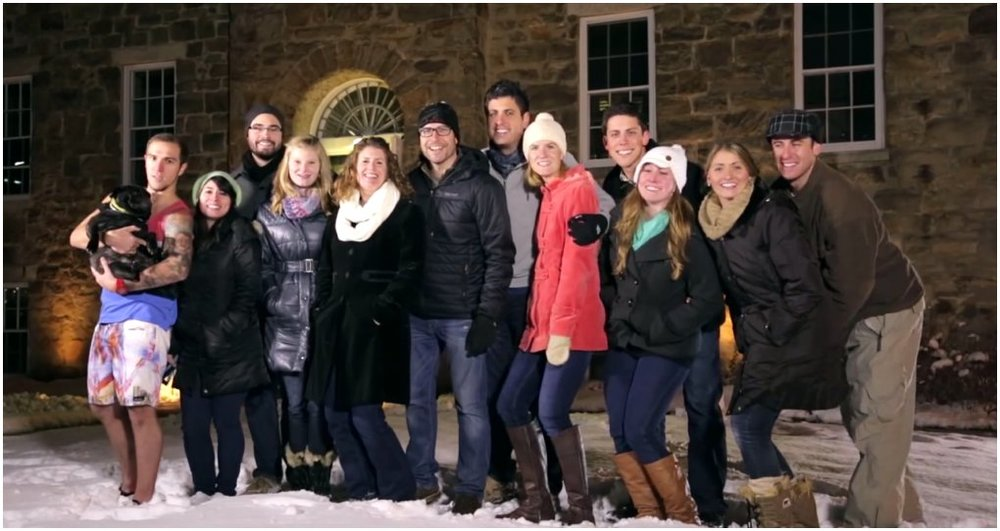 Our team and spouses/significant others/pets after filming the BOI Christmas film. I love these people!
