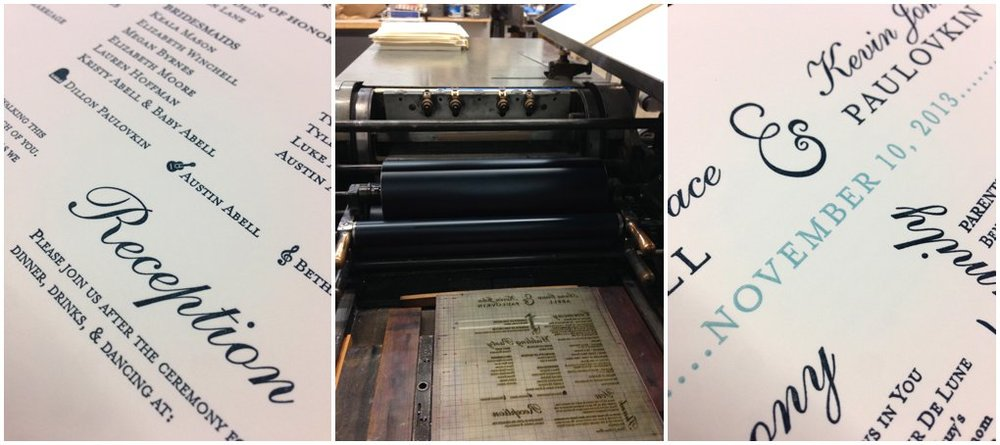 We were thrilled with how they turned out! We also letterpressed our programs and I took a few shots of them.