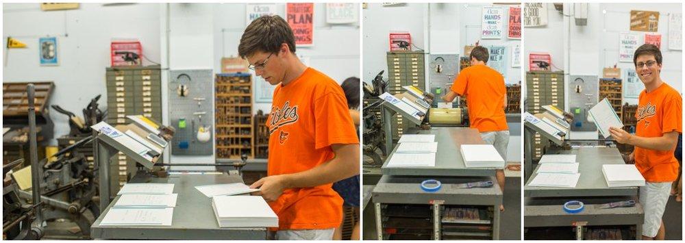 My husband printing!!