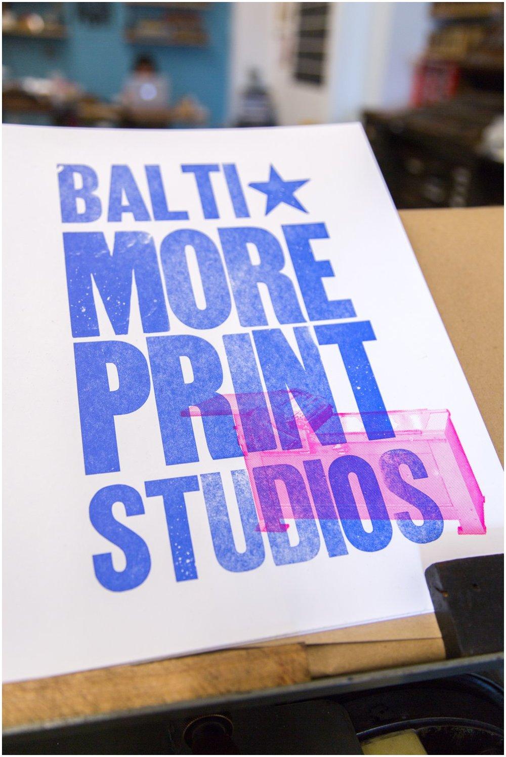 We love you Baltimore Print Studios!!