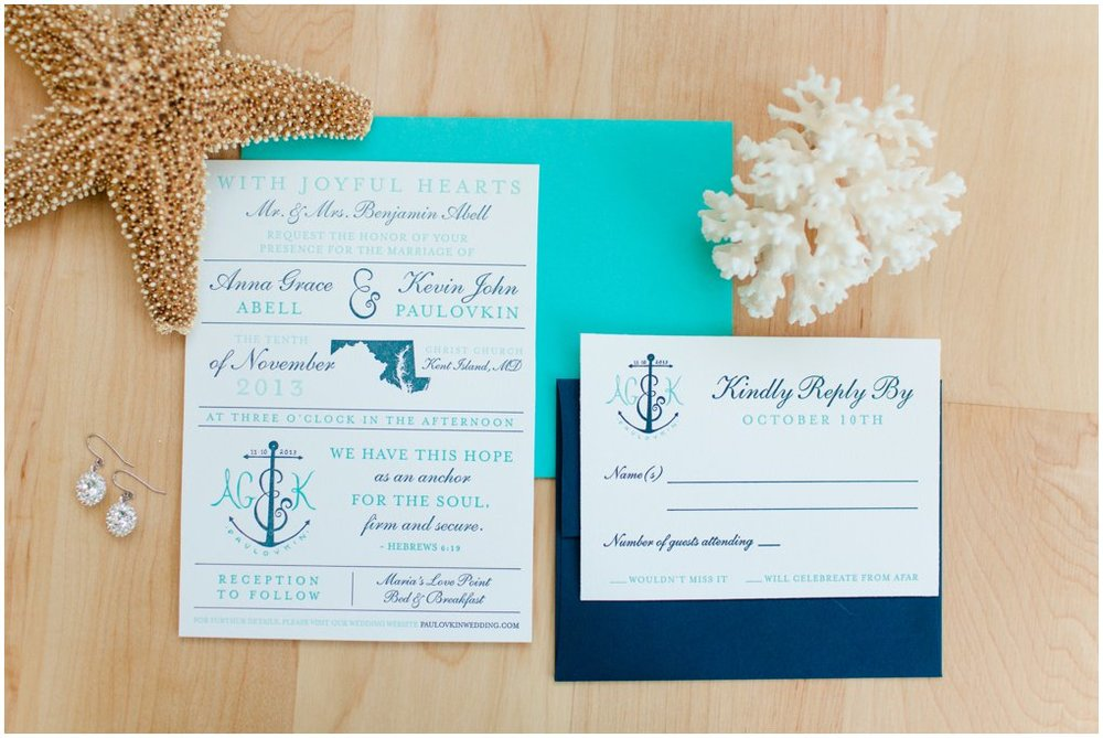 Here is a shot that the amazing Katelyn James took of our invitation suite at our wedding!