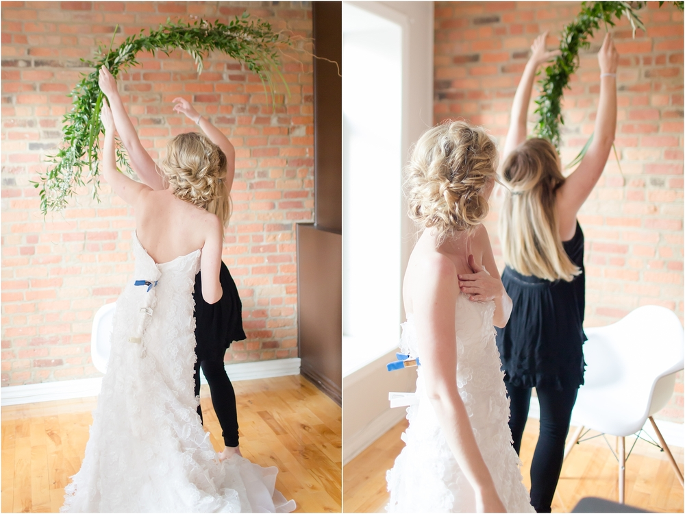 When you are the floral designer + the model. Love it!