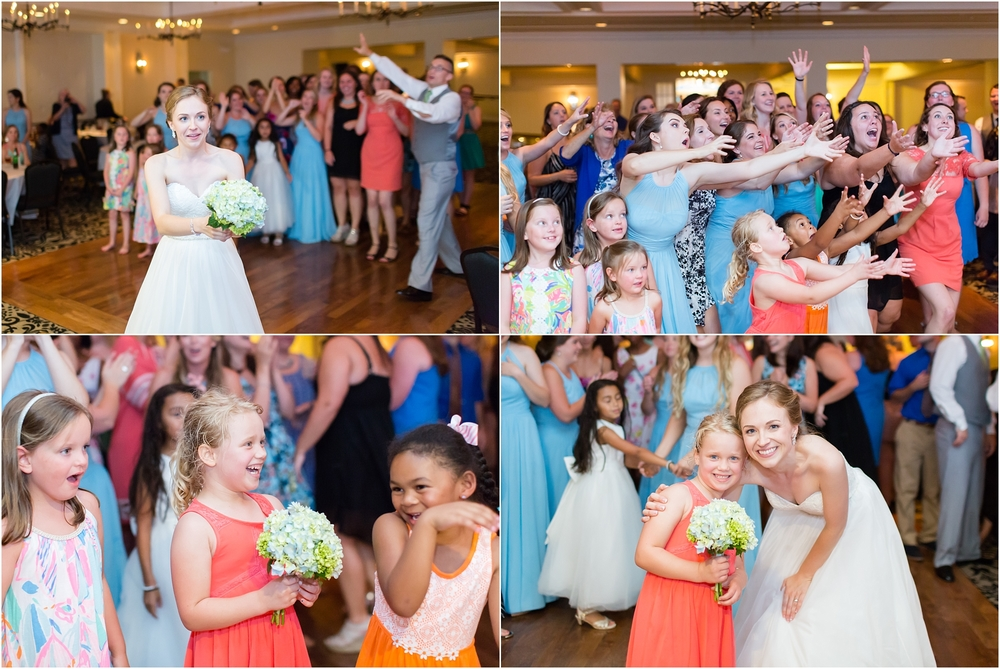 These girls had the best jumps for the bouquet!