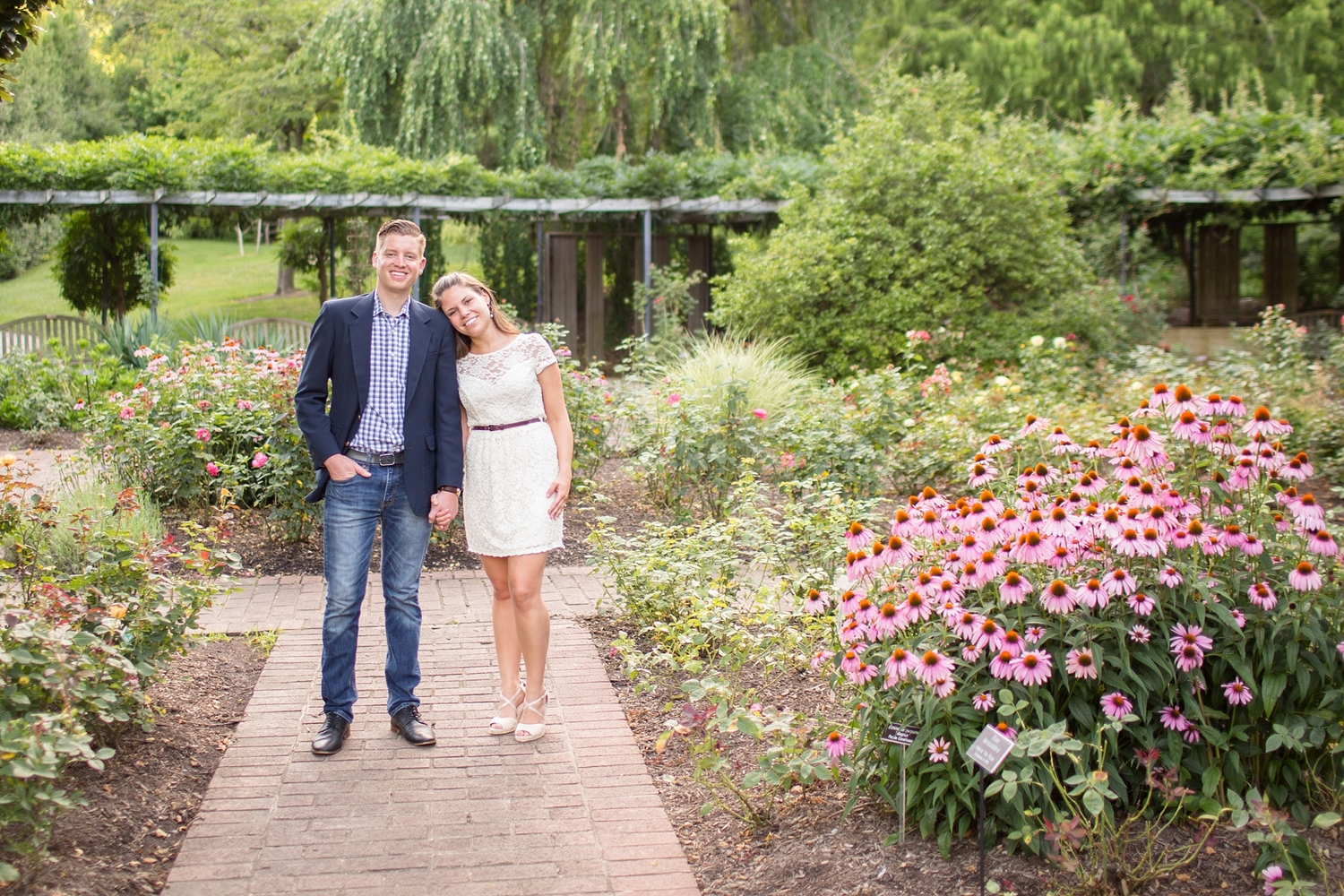nick & clare | engaged {brookside gardens in silver spring, md