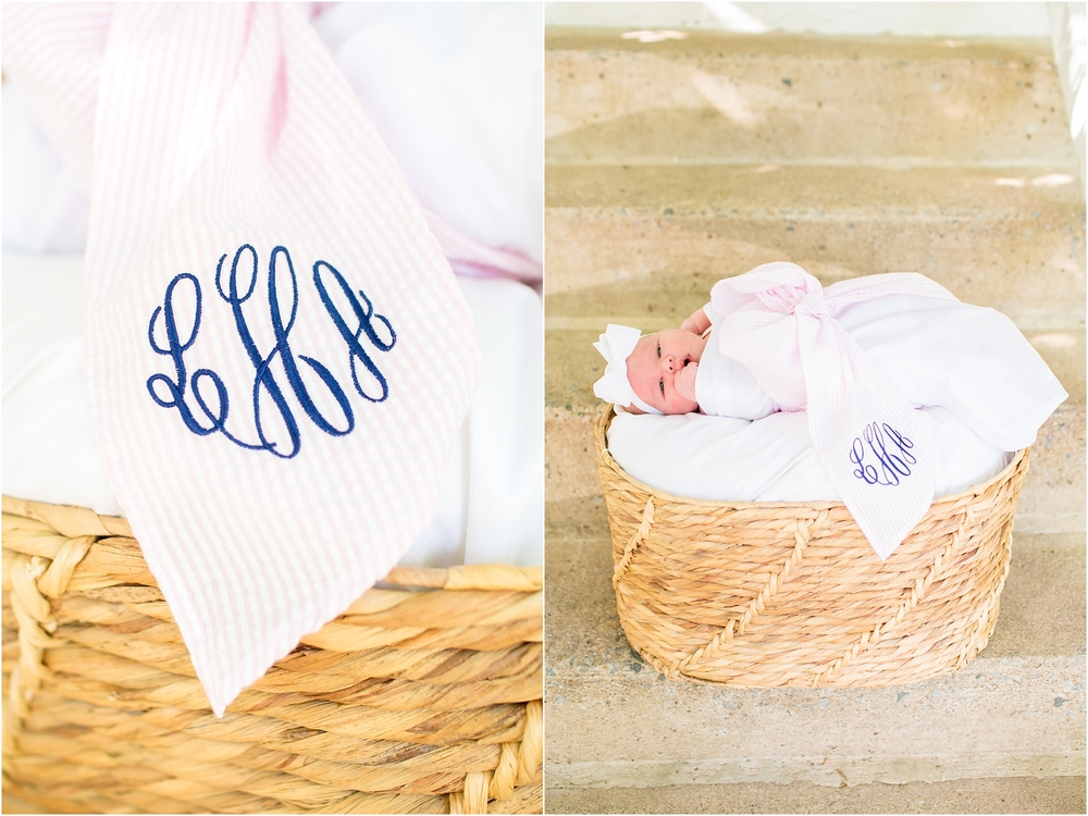 This bow swaddle is the cutest!! Lily is a sweet gift from above.
