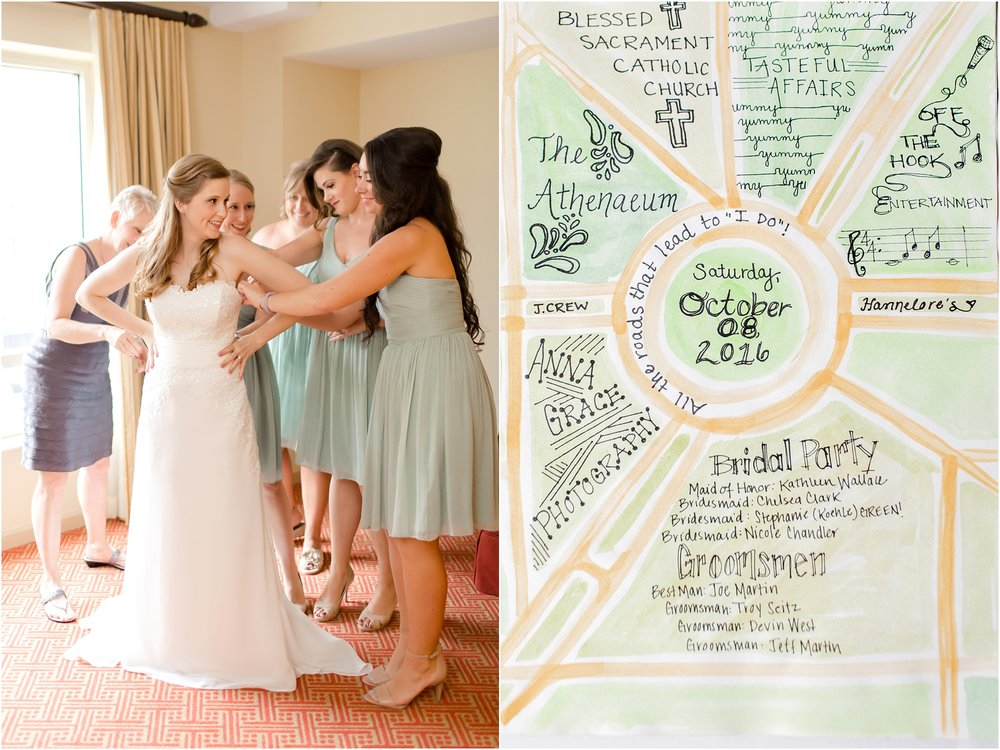 Meg's sketchbook of wedding plans!