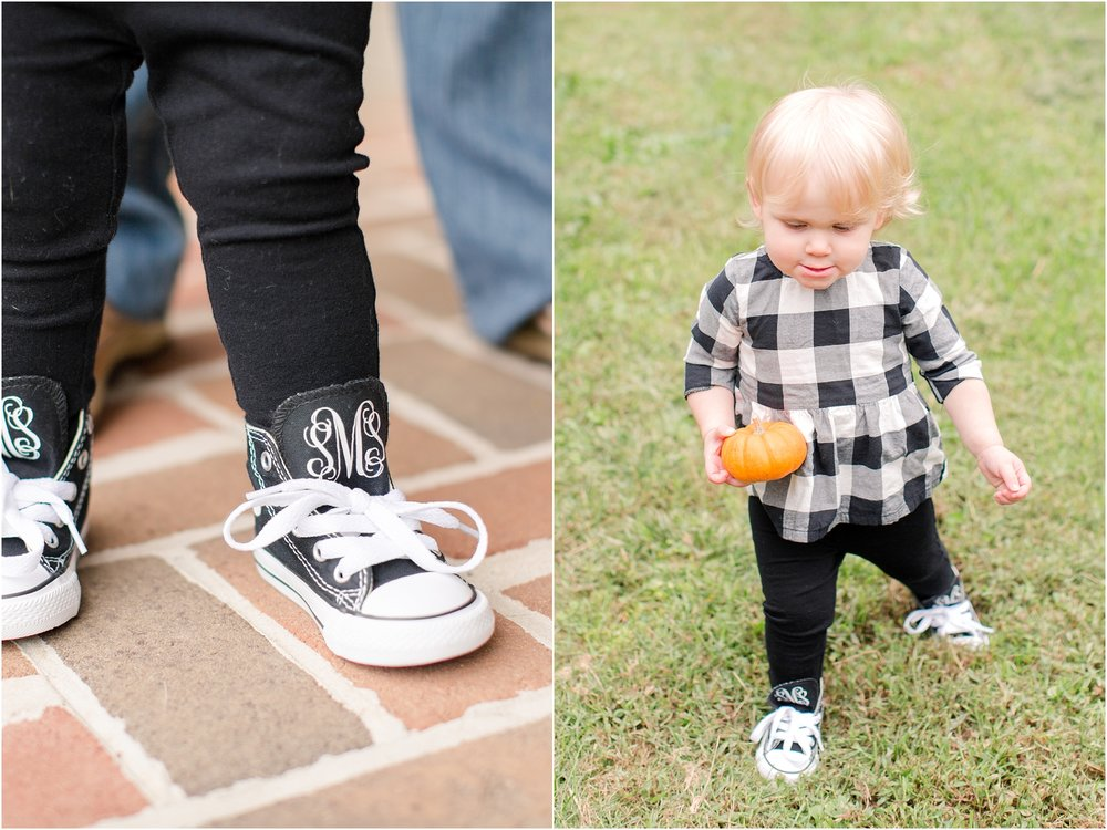 Sadie's ADORABLE monogrammed kicks!