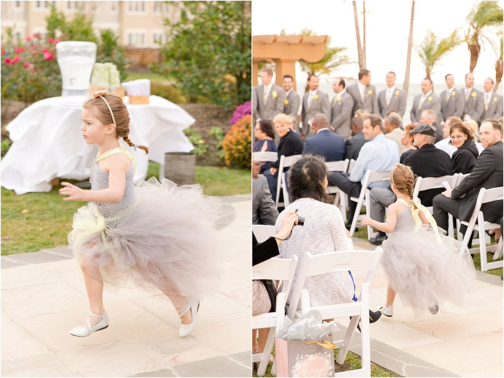 This flower girl was on the move!