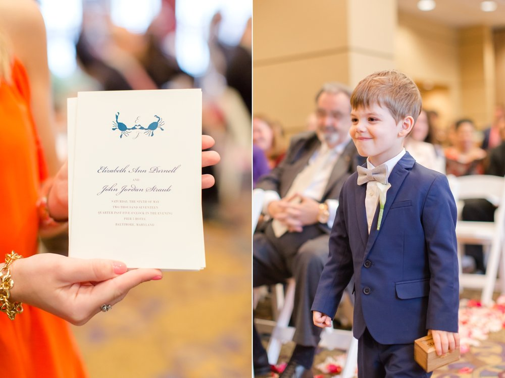 The cutest ring bearer you ever did see!