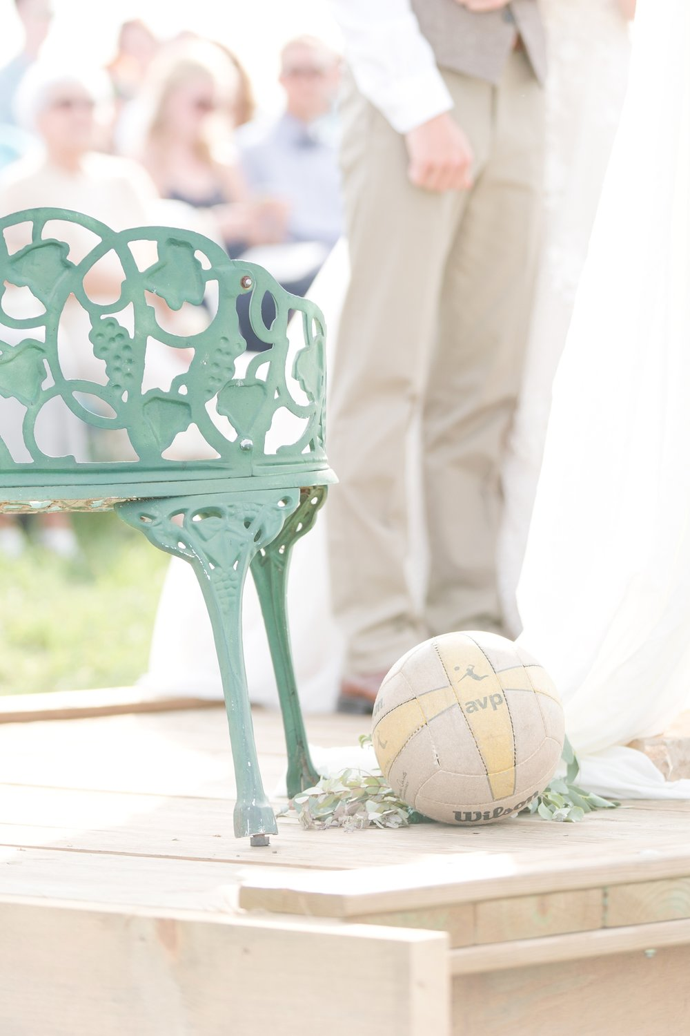 The girls in the Shickel family each played volleyball growing up so this volleyball was incorporated into both Emily and her sister Kate's wedding. So cool!