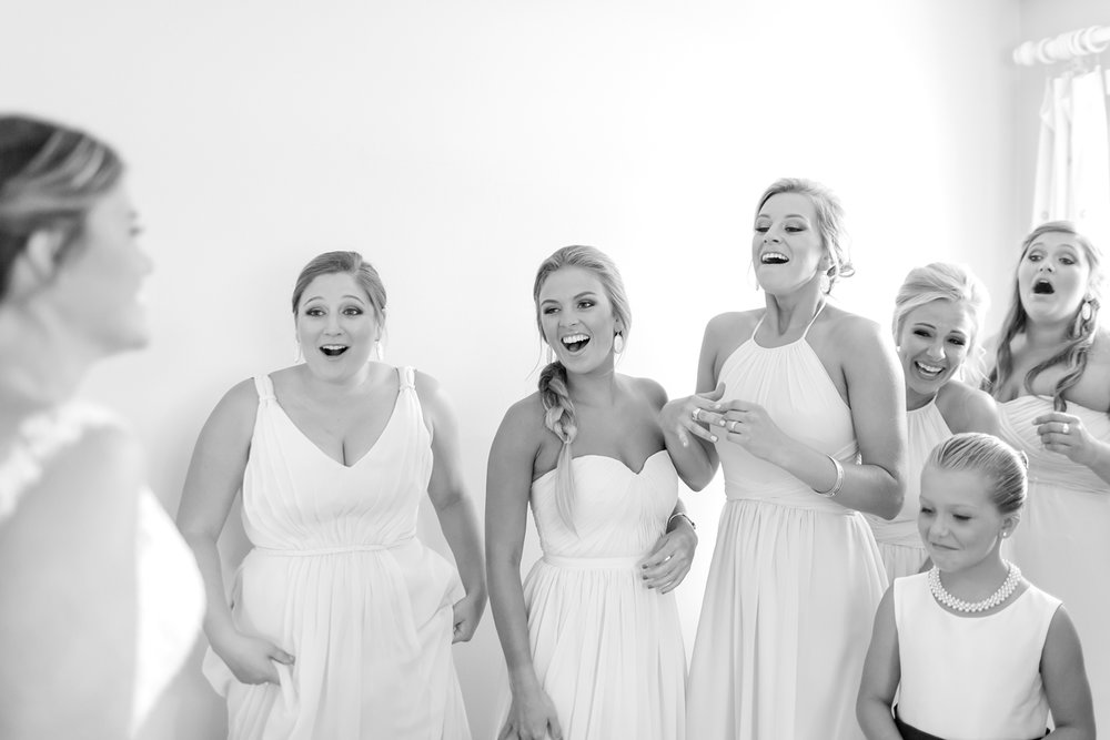 First Look reactions from Allie's bridesmaids!