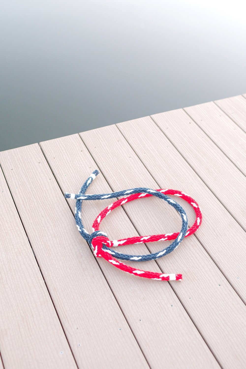 Rob & Alyson tied this rope at their Ceremony! It went so well with their nautical theme.