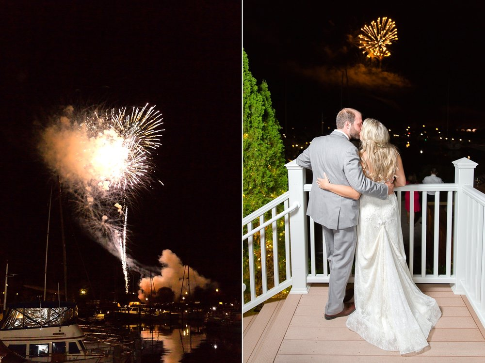 The wedding on the other side of the venue had fireworks so Rob & Alyson got to enjoy them along with all of their guests!